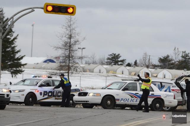La base militaire de Bagotville, à Saguenay, a été momentanément sur un pied... (PHOTO LE QUOTIDIEN)