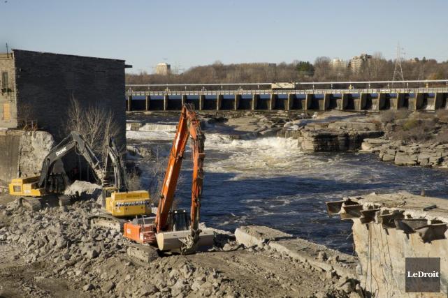 La mise en service de la centrale hydroélectrique... (Martin Roy, LeDroit)