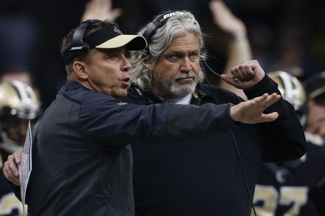 Sean Payton et Rob Ryan... (Photo Jonathan Bachman, AP)