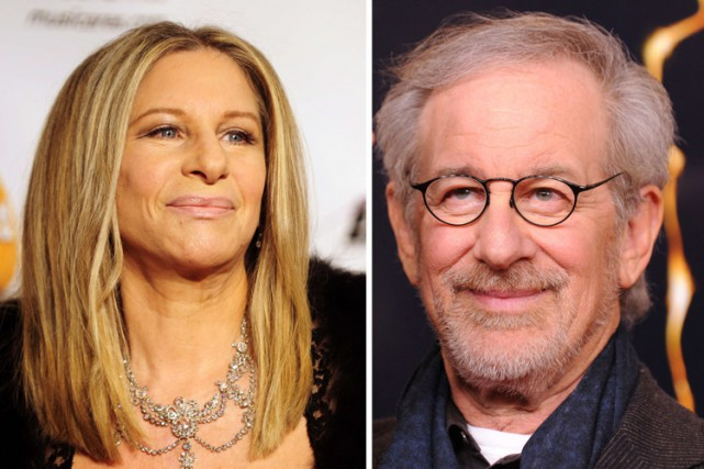Barbra Streisand etSteven Spielberg.... (ARCHIVES AFP)