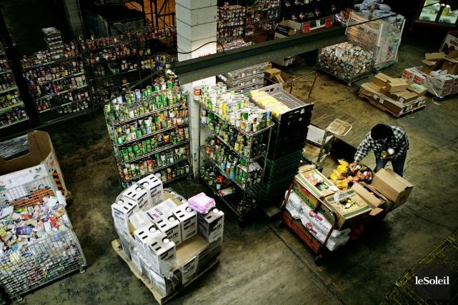 L'étude constate que le recours aux banques alimentaires... (Photothèque Le Soleil)