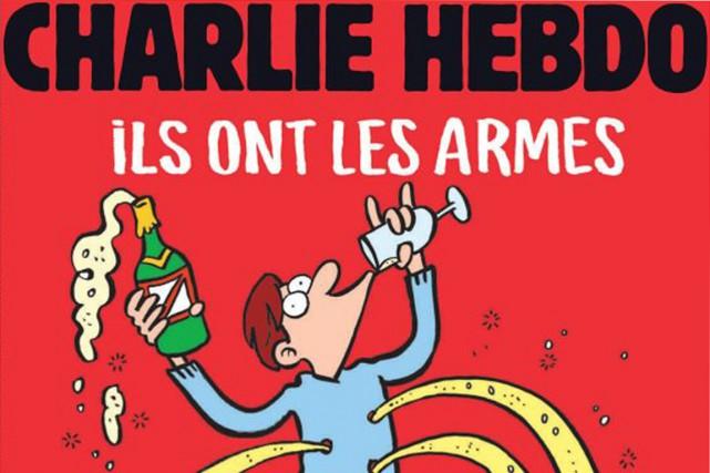 «Ils ont les armes, on les emmerde, on a le champagne»: le dessin en une de... (IMAGE CHARLIE HEBDO)