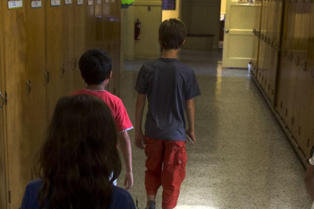 Au cours des dernières semaines, un élève s'est présenté à l'école primaire Bon... (Archives La Tribune)