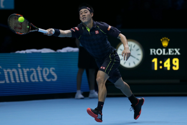 Kei Nishikori... (Photo Tim Ireland, AP)