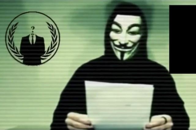 Le collectif Anonymous avait annoncé hier qu'il préparait... (PHOTO REUTERS)