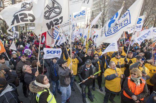 Des milliers de syndiqués du front commun ont... (Photo PC)