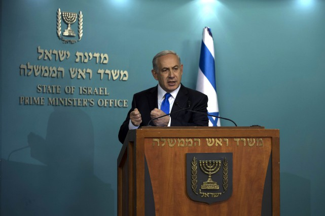 Le premier ministre israélien, Benyamin Nétanyahou... (Photo Tsafrir Abayov, AP)