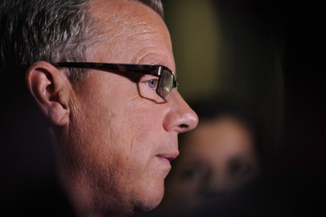 Le premier ministre de la Saskatchewan, Brad Wall.... (PHOTO PC)
