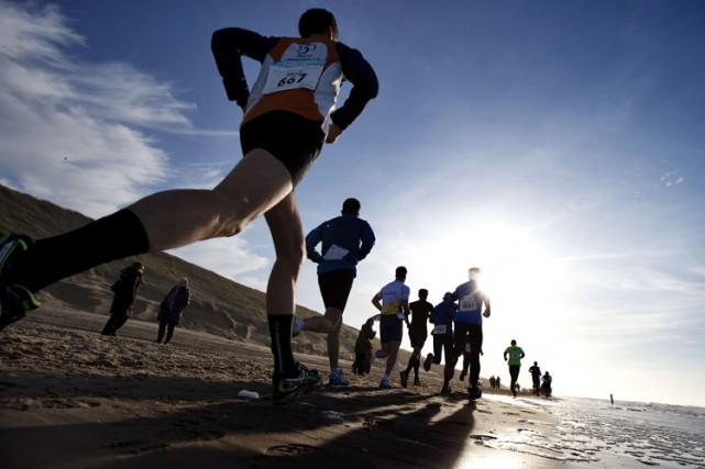 Ils ont couru sept kilomètres de trop lors de leur demi-marathon, et tout ce... (ARCHIVES AFP)