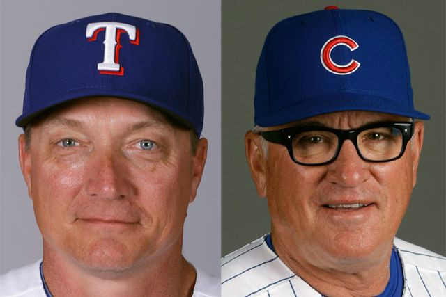 Jeff Banister et Joe Maddon... (PHOTO ARCHIVES AP)