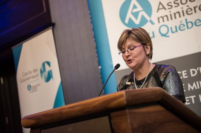 Josée Méthot, présidente-directrice générale de l'Association minière du... (Photo courtoisie)