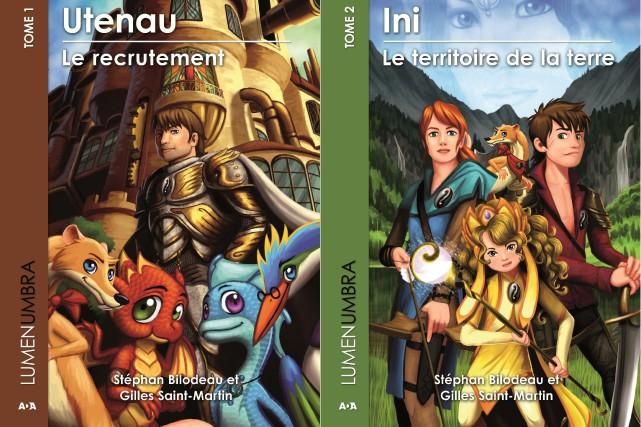 Les deux premiers tomes de la série Lumenumbra seront lancés au Salon... (Photo courtoisie)
