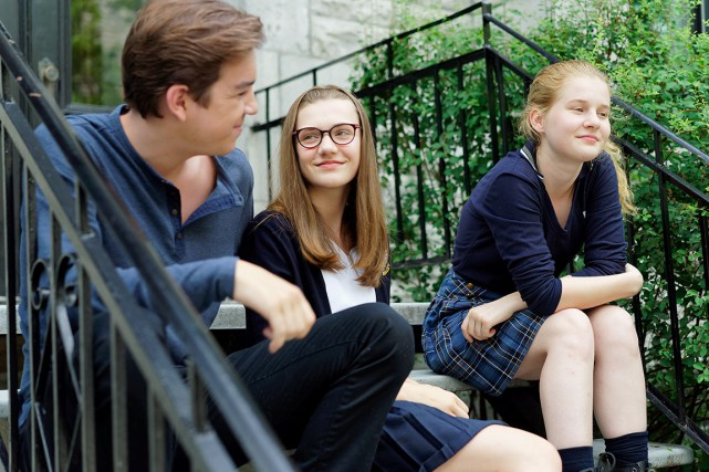 Les acteurs Antoine Pilon, Jade Charbonneau et Marguerite... (PHOTO FOURNIE PAR RADIO-CANADA)
