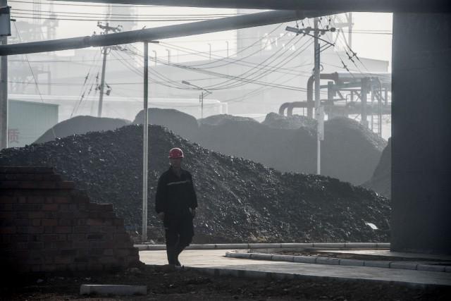 La quantité de charbon brûlé par la Chine... (Photo AFP)