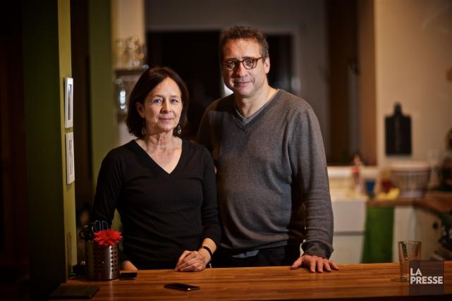 Jean-François Labadie et sa conjointe Johanne Malanfant.... (PHOTO ANDRÉ PICHETTE, LA PRESSE)