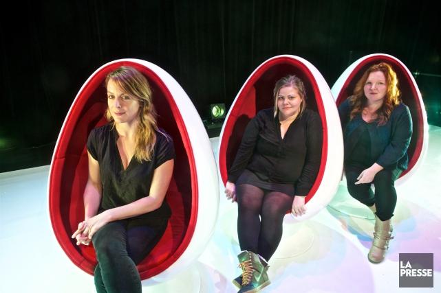 Julie Le Breton, Geneviève Schmidt etKathleen Fortin sont... (Photo André Pichette, La Presse)