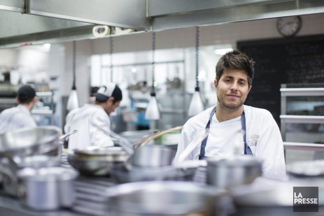Le chef cuisinier Luca Cianciulli, au restaurantToqué!.... (PHOTO EDOUARD PLANTE-FRECHETTE, LA PRESSE)