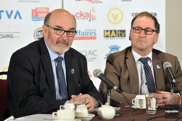 Le préfet de la MRC Maria-Chapdelaine, Jean-Pierre Boivin,... ((Photo Le Quotidien-Rocket Lavoie))