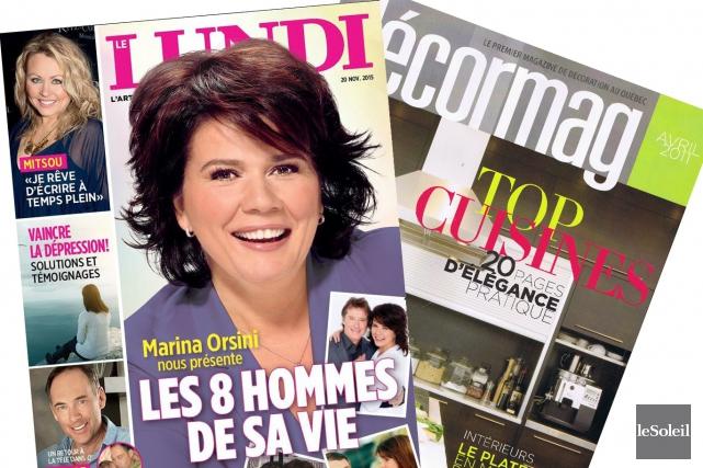 Outre Le Lundi et Décormag, les autres titres... (Infographie Le Soleil)