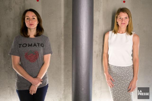 Marie-Eve Leclerc-Dion et Geneviève Janelle sont à la... (Photo François Roy, La Presse)