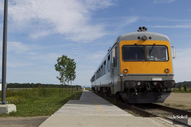 Le train du Réseau Charlevoix... (Photothèque Le Soleil, Caroline Grégoire)