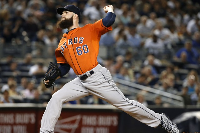 Dallas Keuchel a guidé les Astros vers une... (Archives Associated Press)