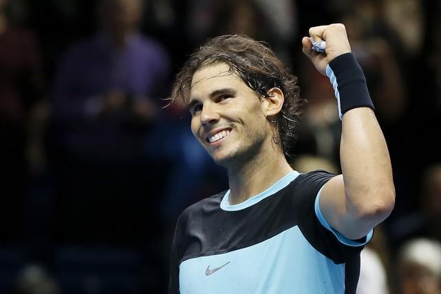 Rafael Nadal a remporté un deuxième duel consécutif... (Kirsty Wigglesworth, Associated Press)