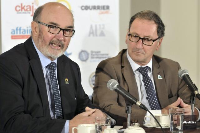 Le préfet et la MRC Maria-Chapdelaine, Jean-Pierre Boivin,... (Photo Le Quotidien, Rocket Lavoie)