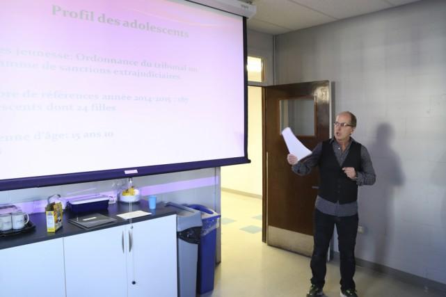 Luc Genest, intervenant chez Justice alternative et médiation,... (Photo Janick Marois)