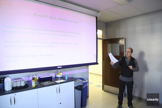 Luc Genest, intervenant chez Justice alternative et médiation,... (Janick Marois, La Voix de l'Est)