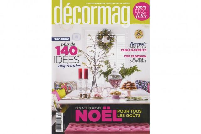 Le magazineDécormag, qui s'affichait encore sur la couverture...