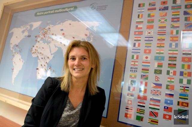 La directrice des services éducatifs à la commission... (Le Soleil, Erick Labbé)