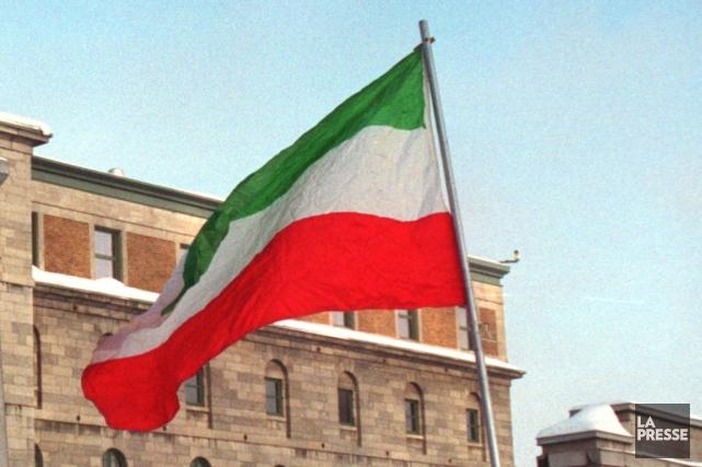 Le drapeau des Patriotes.... (Photo: Archives La Presse)