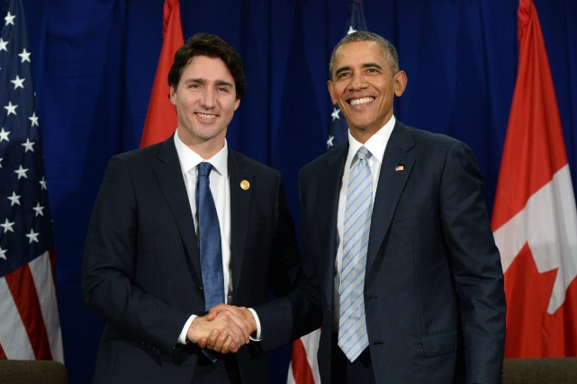 Justin Trudeau et Barack Obama... (PHOTO SEAN KILPATRICK, LA PRESSE CANADIENNE)