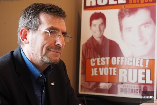 Le conseiller municipal Serges Ruel a annoncé qu'il... (Alain Dion, La Voix de l'Est)