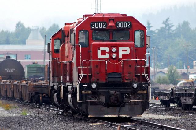 Le Canadien Pacifique a vu ses revenus bondir de 13 % au deuxième trimestre... (PHOTO ARCHIVES BLOOMBERG)