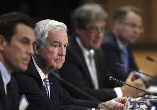 Craig Reedie, leprésident de l'Agence mondiale antidopage, lors... (Associated Press)