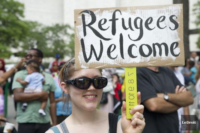 Lors de la manifestation de soutien auxréfugiéssyriens à... (Archives Le Droit)