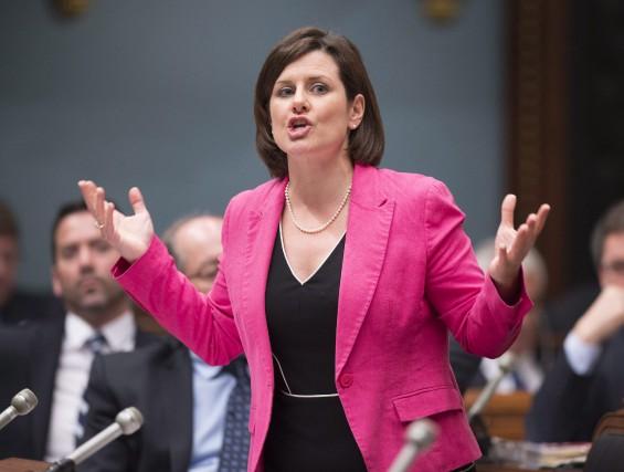 La ministre de la Justice, Stéphanie Vallée, a... (Archives La Presse Canadienne)