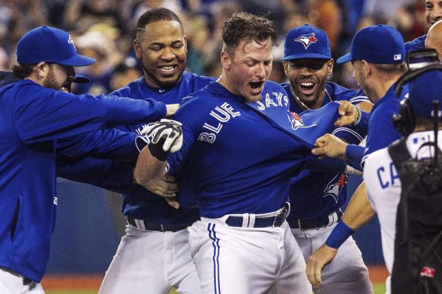 Josh Donaldson a été la bougie d'allumage des... (La Presse Canadienne)