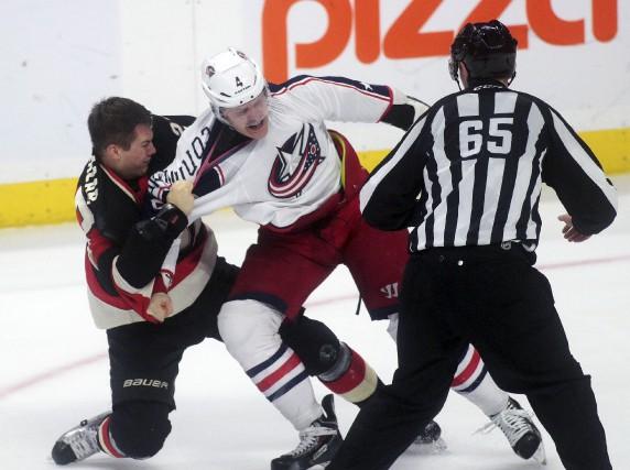 Curtis Lazar s'est battu pour la première fois... (La Presse Canadienne)