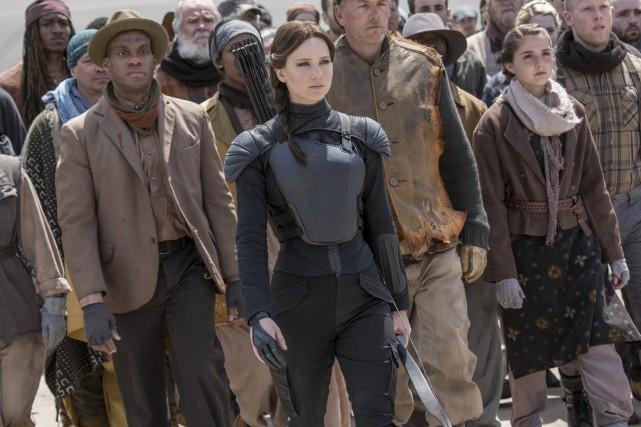 Jennifer Lawrence dans le dernier volet de Hunger... (Fournie par Lionsgate)