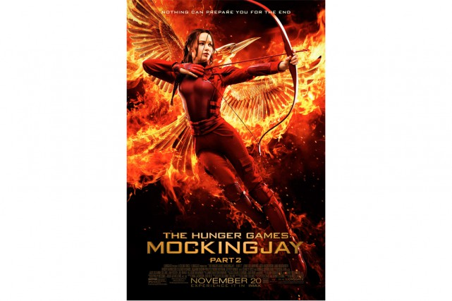 L'affiche officielle d'Hunger Games montre une Jennifer Lawrence... (PHOTO FOURNIE PAR LA PRODUCTION)