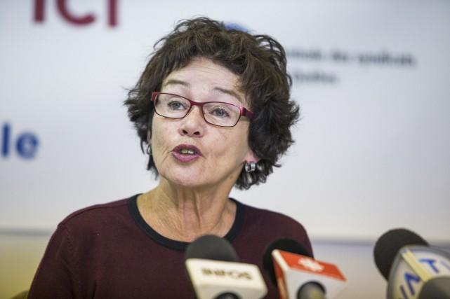 Louise Chabot, présidente de la CSQ... (Olivier Croteau)