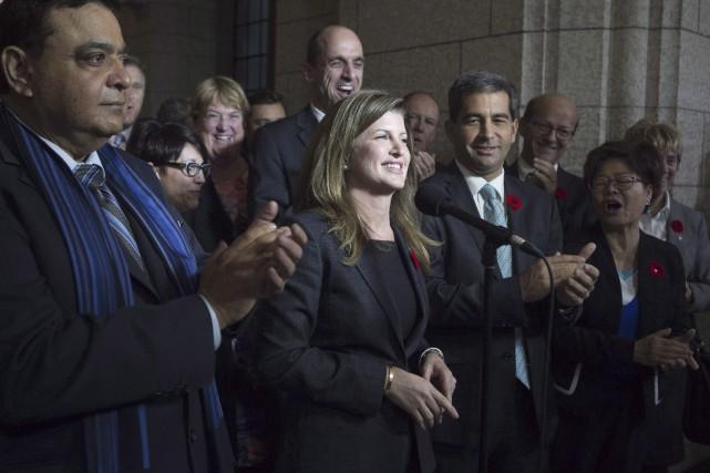 La chef intérimaire du Parti conservateur, Rona Ambrose,... (La Presse Canadienne, Adrian Wyld)