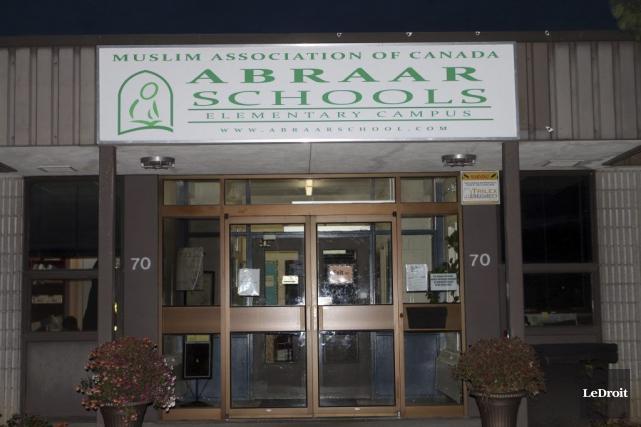 Toutes les portes de l'école privée musulmane Abraar... (Etienne Ranger, LeDroit)