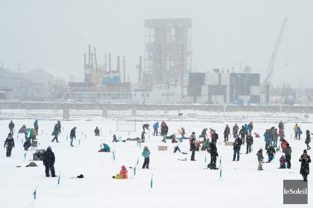 L'hiver dernier, 1500 personnes se sont rendues taquiner... (Photothèque Le Soleil, Erick Labbé)