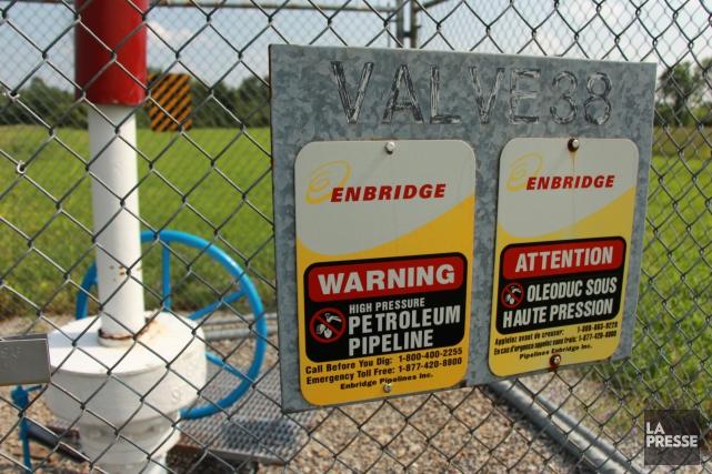 Enbridge a dit prévoir que la canalisation serait... (Archives La Presse)