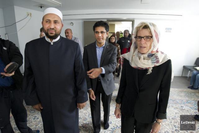 La première ministre Kathleen Wynne a visité une... (Martin Roy, LeDroit)