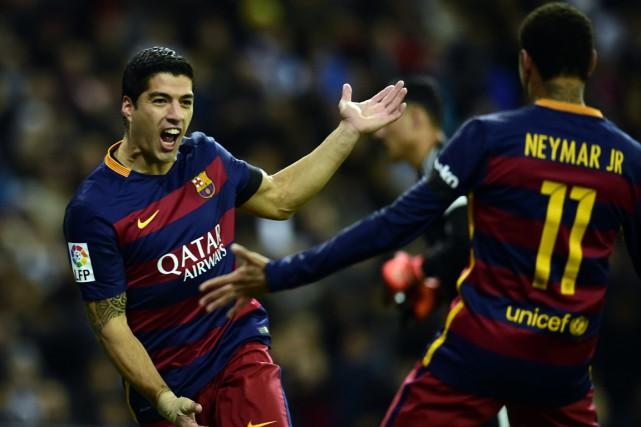 Luis Suarez a ouvert la marque pour le... (PHOTO JAVIER SORIANO, AFP)